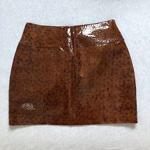 Wilson Leather Maxima Mini Snake skin print skirt